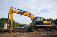 Stock Photo of excavator and backhoe