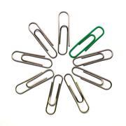 paper clip - stock photo
