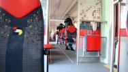 Passengers on the train. Stock Footage