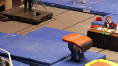 Gymnastic vault Stock Footage