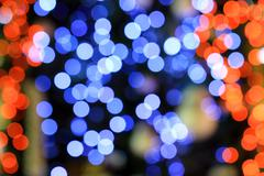 colorful bokeh light as background - stock photo