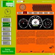 template web site about automotive topics. - stock illustration