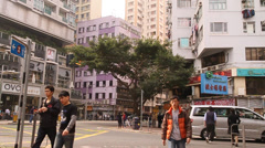 A look at the wanchai area during the daytime Stock Footage