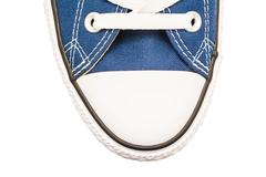 Blue Old Sneakers Top View Stock Photos