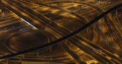 Ultra HD 4K UHD Night Evening Auto Cars Congestion Dubai Cars Passing Highway Stock Footage