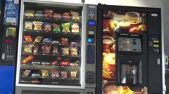 Vending Machine, Chips, Cookies, Candy Stock Footage
