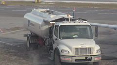 Stock Video Footage of Refueling Trucks, Airports, Airplanes