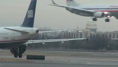 Airplane, Aircraft, Taxi to Runway, Airports - stock footage