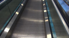 Escalator, Conveyor Belt, Automatic Stairs Stock Footage