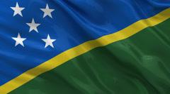 Flag of the Solomon Islands - seamless loop Stock Footage
