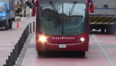 Buses, Headlights, Roads, Public Transportation, Mass Transit Stock Footage