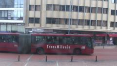 Buses, Buildings, Public Transportation, Mass Transit - stock footage