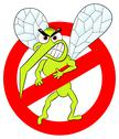 Stock Illustration of mosquito warning sign