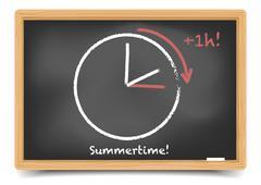 Daylight saving summer Stock Illustration