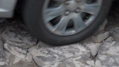 Car Tires, Wheels, Rubber, Rims Stock Footage