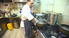 Chef preparing risotto Stock Footage