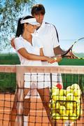 Urheilija tennis ohjaaja Kuvituskuvat