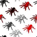 Halloween seamless pattern with black spiders Stock Illustration