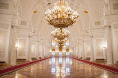 Georgievsky Hall of the Kremlin Palace, Moscow Stock Photos