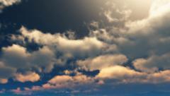 Sky evening dark sunny 01 Stock Footage