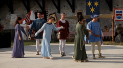 Medieval historical reenactment Stock Footage