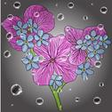 Stock Illustration of floral background with a hand drawn flavor of blooming spring blossoms