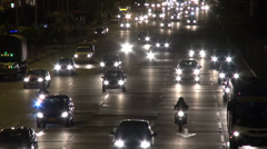 Night Traffic, Headlights, Cars, Driving - stock footage