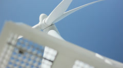 Looking Up Turbine Windmill Green Clean Electric Energy - 29,97FPS NTSC Stock Footage
