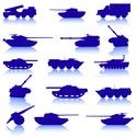 Stock Illustration of collection set of tanks of guns