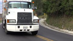 Trucks, Tractor Trailer, Cargo, Delivery - stock footage