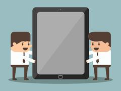 Businessman holding tablet Stock Illustration