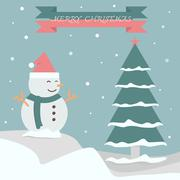 Merry christmas background vector for make banner - stock illustration
