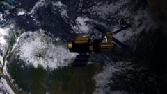 Skylab Space Station in Earth orbit Stock Footage