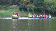 Stock Video Footage of Paddle Boats, Tourism, Water Sports