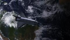 Space Shuttle In Earth Orbit - stock footage