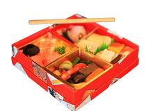 japanese fast food bento box - stock photo