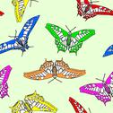 Stock Illustration of butterflies seamless wallpaper. vector illustration.