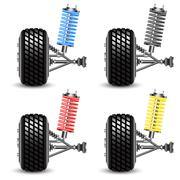 Set car suspension, frontal view. Stock Illustration