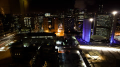 4K UltraHD A timelapse night view of Toronto city hall, Canada Stock Footage