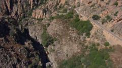 Aerial corsica piana mountains corse Stock Footage