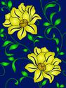 Stock Illustration of seamless wallpaper  a seam with flower and leaves