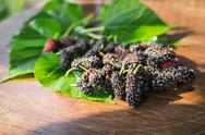 Stock Photo of heap of mulberry