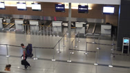 Stock Video Footage of Airport Check In, Airlines, Waiting Area