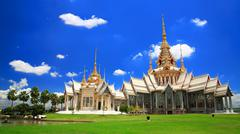 Thai temple landmark named Wat Sorapong in Nakhon Ratchasima or Korat - stock photo