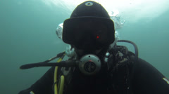 Diver - stock footage