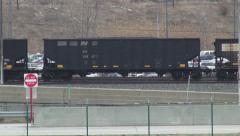 Coal Trains, Railroads, Shipping, Transport Stock Footage