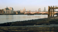 Stock Video Footage of River Thames at low tide