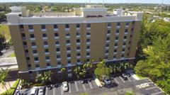 Hampton Inn Aventura Aerial video - stock footage