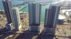Static aerial video of Downtown Miami - stock footage
