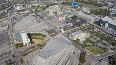 Stock aerial video footage of Downtown Miami Stock Footage